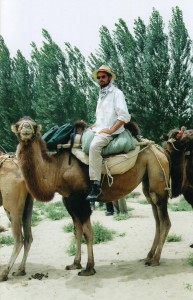 Riding out of the Taklamakan Desert