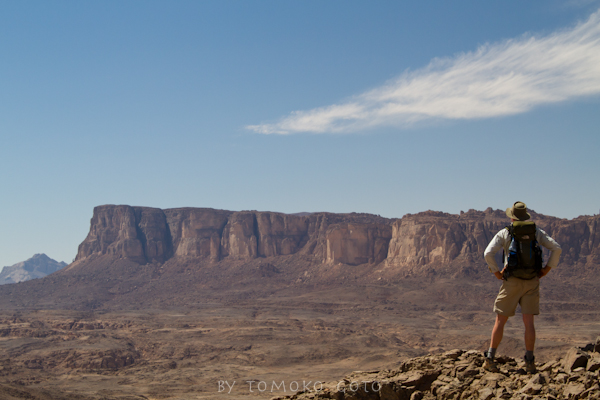 Jebel Uweinat with views of the Hassanein Plateau