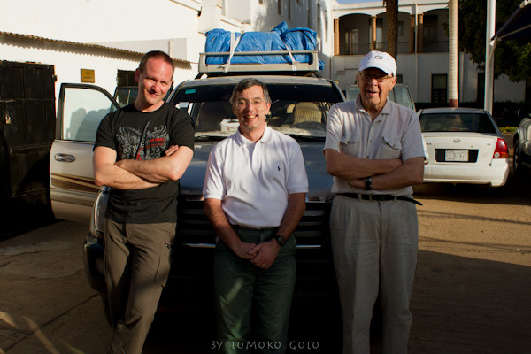 Myself, Andras Zboray and expedition member Dr. Raymond Bird in Khartoum, just before heading into the desert...