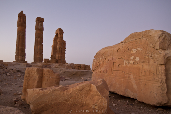 Soleb temple, built by Amenhotep III and consecrated to the god Amun Re.