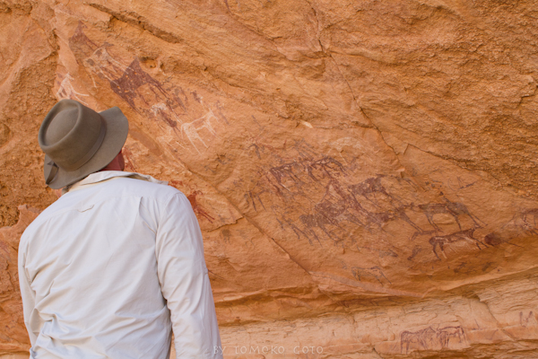 Just one of the many incredible prehistoric rock art sites hidden in shelters at Uweinat...