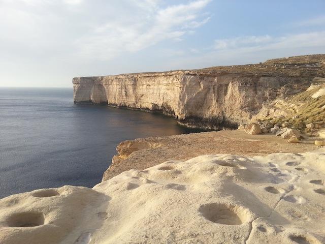 Exploring the cliffside at Blata tal-Melh...