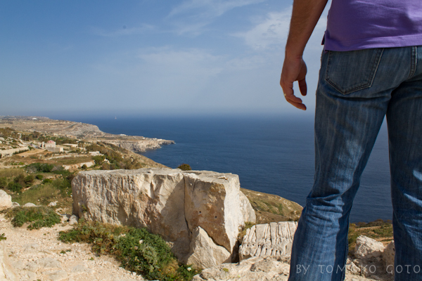 The view down the coast from a high point at Fawwarra...