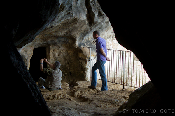 Photographing potential rock art sites in Hassan's Cave — I feel like I'm back in the Sahara with Andras!