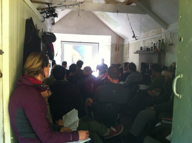 Firing up the generator for the Expedition Medicine power point sessions...