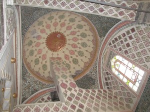 ... a surfeit of opulence as symbolized by the ornate visual overload of the tiles...