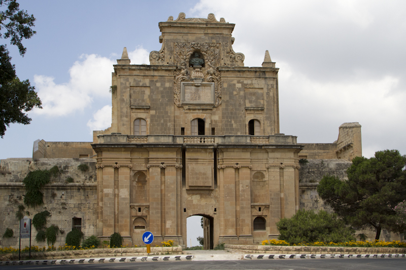 The Notre Dame Gate of the Cottonera Lines, which once guarded the Three Cities