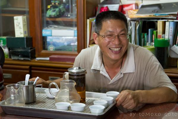 Tasting black teas processed on-site