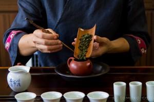 Preparing to taste some of Taiwan's finest teas...