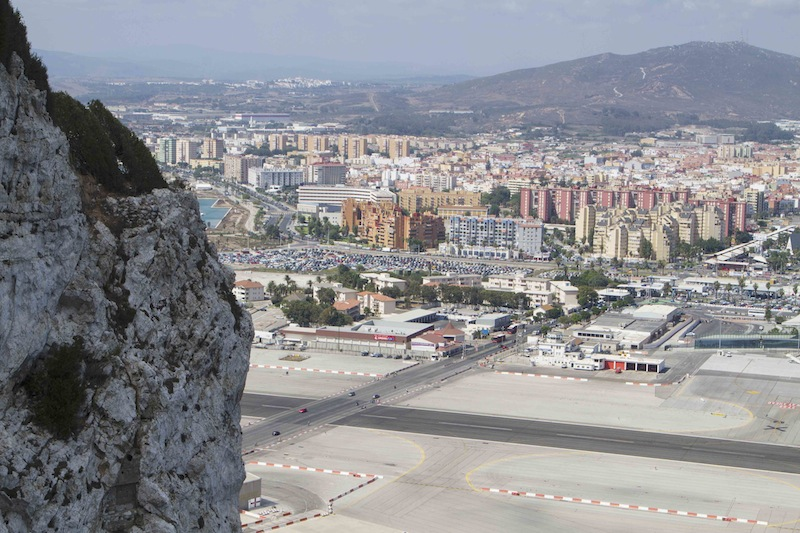 In Gibraltar the runway crosses the main road — or is it the other way around...?