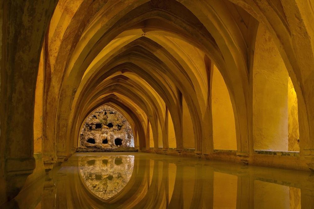 The echoing subterranean world of Los Baños de Doña María de Padilla...