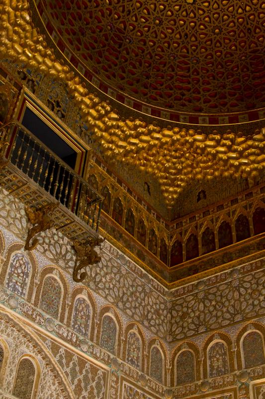 "The ""half orange"" ceiling of the Hall of Ambassadors..."