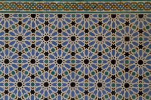 Elaborate tile work is another hallmark of mudéjar architecture...