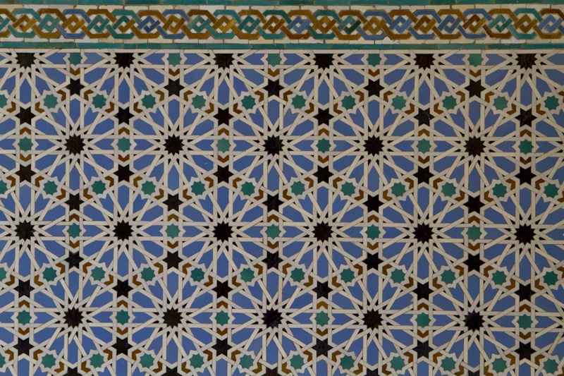Elaborate tile work is another hallmark of mudéjar architecture...