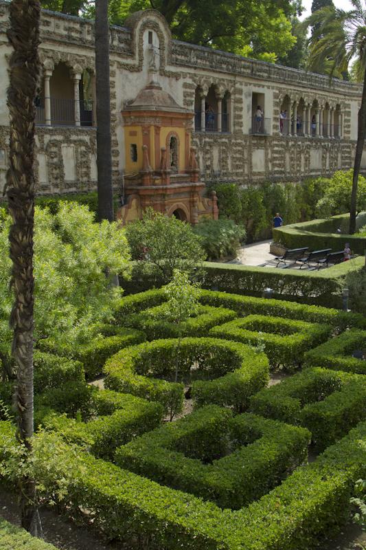 One of the Alcazar's many peaceful gardens...