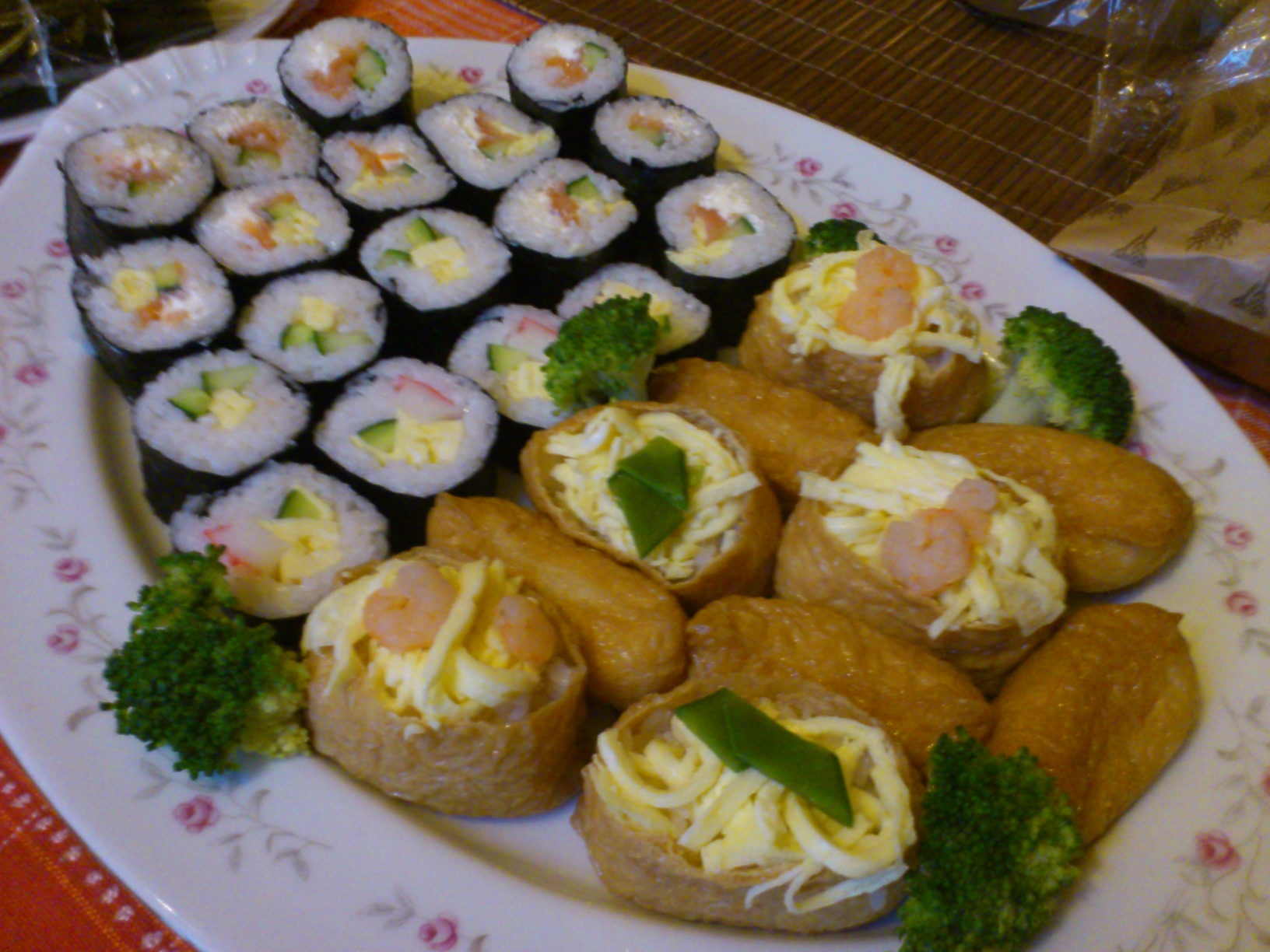 """Let's get this """"reverse housewarming"""" off to a proper start with some sushi..."""