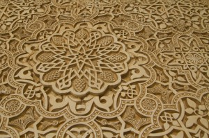 Every surface of the Nasrid Palace is graced with swirls and leaves and geometric patterns...