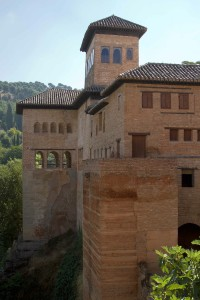 The Alhambra's steep hillside setting protected its inhabitants from unwanted visitors, cold callers and door-to-door religion peddlers...