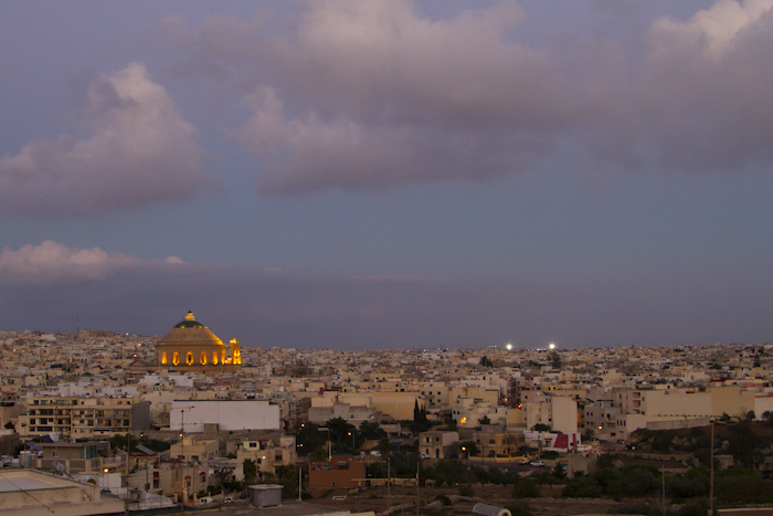 View of the Mosta dome from the terrace of The 360 Degree Penthouse...