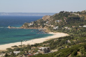 Villas ooze wealth across the hillside near Zahara des los Atunes...