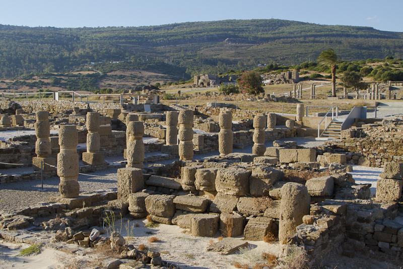 The Roman ruins of Baelo Claudia — a major fish paste exporter — right on the beach at Bolonia...