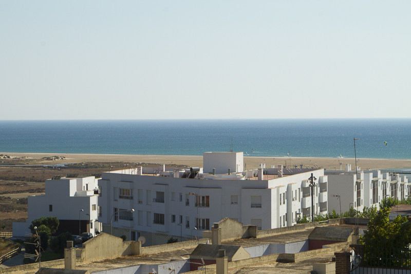 The beach of El Palmar offers tempting stretches of empty sand… right outside my door...