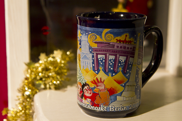 Each market had it's own special mug... hot wine spiced with cinnamon, aniseed, cloves, citrus, and sugar...