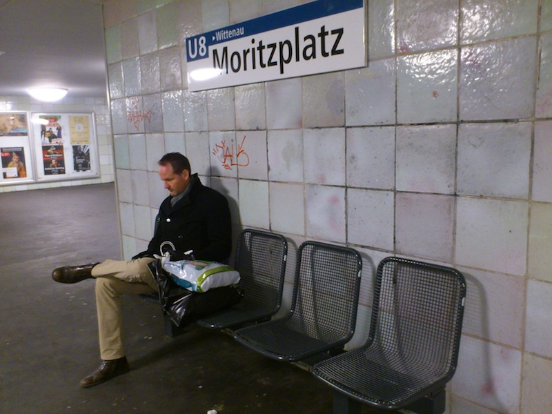 Looking like a Tom Waits song: Down and Out on the U Bahn, Christmas Eve.