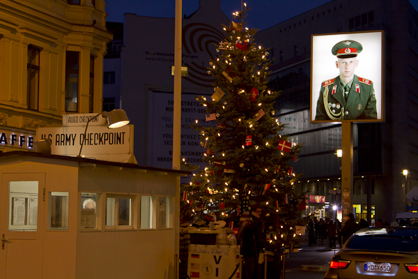 Checkpoint Charlie — you are now passing into Commie East Berlin...