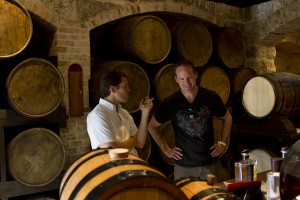 Talking rum with Simon Jackson Warren, owner of St. Nicholas Abbey. Their 12 year old rum is excellent, and their white rum has a fragrance that adds depth and intense floral layers to any lime-based cocktail.