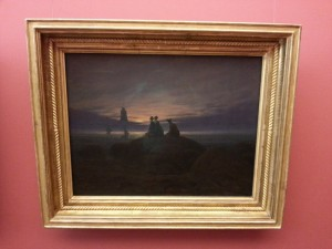 """Moonrise Over the Sea"" by Caspar David Friedrich"
