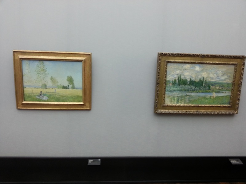 """""""Summer"""" on the left and """"View of Vétheuil-sur-Seine"""" on the right"""