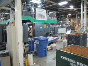 Lowe-Martin's Ottawa St. Laurent facility — where Outpost is printed...