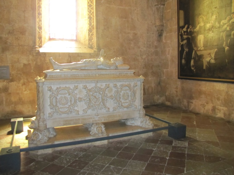 Tomb of Portugal's greatest poet, Luis de Camoes (1527-1570) who chronicled the great discoveries, author of Os Lusiadas.
