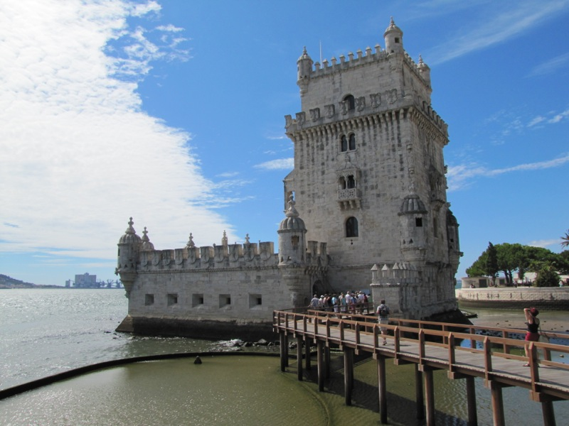The Tower of Belem, built in 1520 to defend the mouth of the River Tejo, and a beautiful example of the Manueline style.