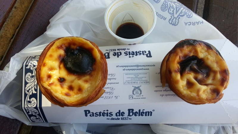 Lovely custard tarts and a takeaway espresso on a shady park bench...