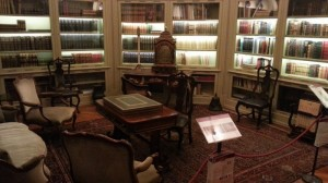 My favourite room — I need a proper library one day, with wood panelled walls and ceiling, and a nice sturdy antique desk...
