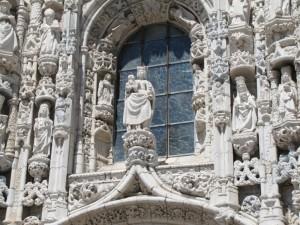 Monasteiro des Jeronimos detail of the main doorway