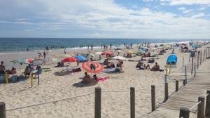 Barril beach, on the sandy barrier island of Ilha de Tavira...