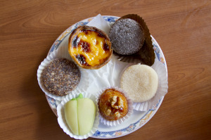 Typical Algarve sweets at a Tavira cafe...