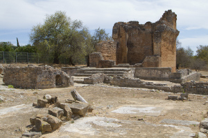 Remains of the sanctuary / pagan temple, 4th century...