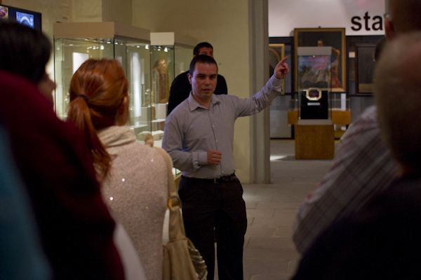 Private curator's tour of the latest exhibit on the Inquisition in Malta...