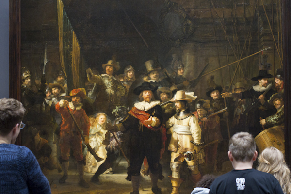 Rembrandt's The Night Watch - the one all the tour groups rush through the museum to see (and then leave again without looking at anything else...)