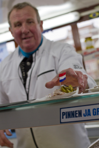 Lovely raw herring from the best kiosk in Amsterdam — right in my neighbourhood...