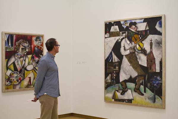 Exploring the upper galleries of the Stedelijk Museum...