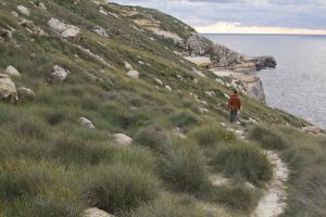 Hiking back down towards Blata tal-Melh...