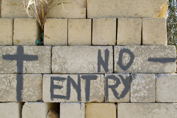 """No matter which way we turned, we were met with """"no entry"""" signs..."""