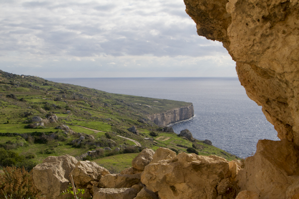 Views of the coast from Il-Qliegha Tal-Bahrija, site of a major Bronze Age settlement...