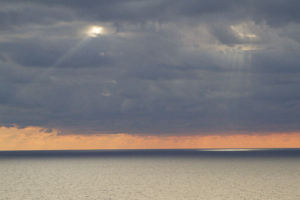 The peninsula has a commanding view: the vast empty sea that stretches all the way to Libya rolls gently at my feet...