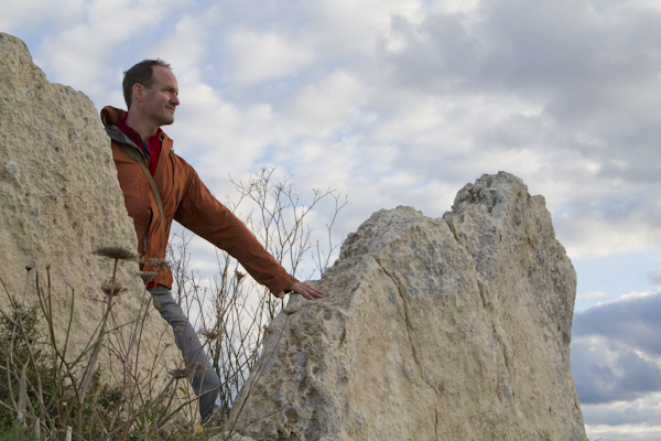 Touching prehistory in the form of megalithic standing stones...